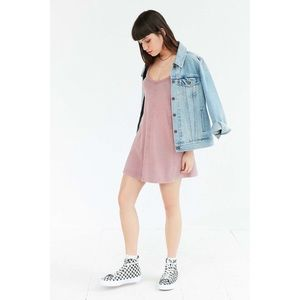 UO BDG Jamie T-Back Swing Mini Dress Medium Pink